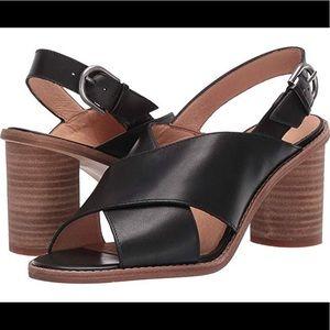 Madewell Ruthie Crisscross Heeled Sandal Leather